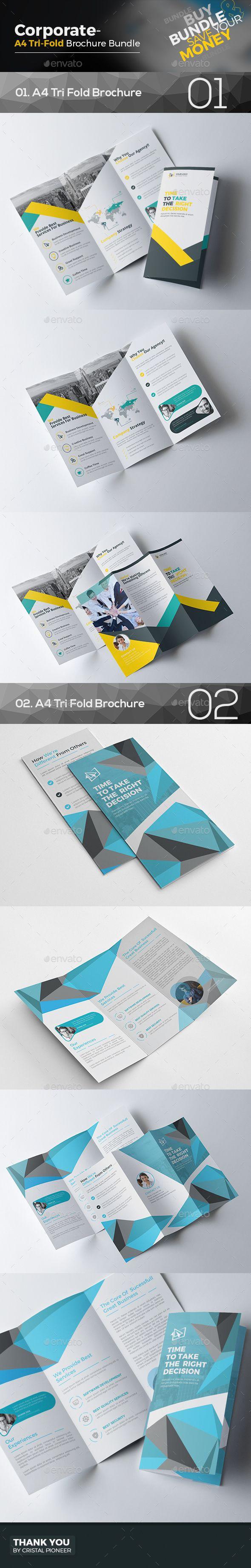 2 Tri Fold Brochure Templates Vector EPS, AI Illustrator. Download here: https://graphicriver.net/item/tri-fold-brochure-bundle-2-in-1/17255266?ref=ksioks