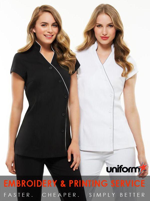 Salon Uniforms : Ladies Zen Crossover Tunic #uniforms www.uniforms.com.au