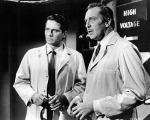 Brett Halsey in Return of the Fly with Vincent Price