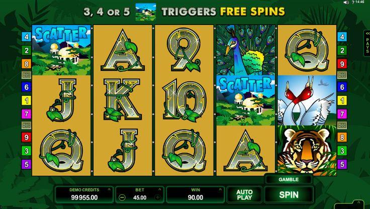 Si te gusta la selva y los animales salvajes entonces este juego de tragamonedas en línea es para ti!