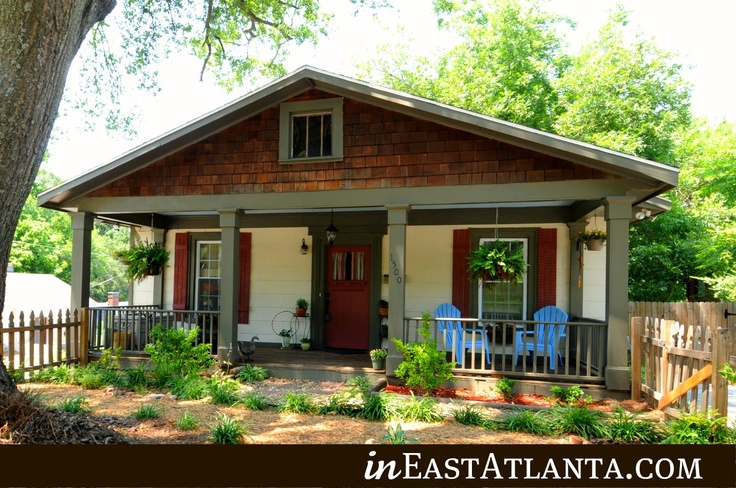 1000 images about atlanta bungalows on pinterest for Atlanta craftsman homes