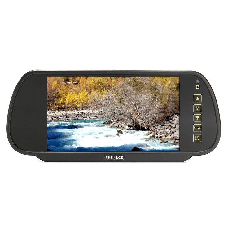 7 Inch TFT LCD Car Rear View Mirror Monitor for Reversing Parking Camera Kit&DVD VCR