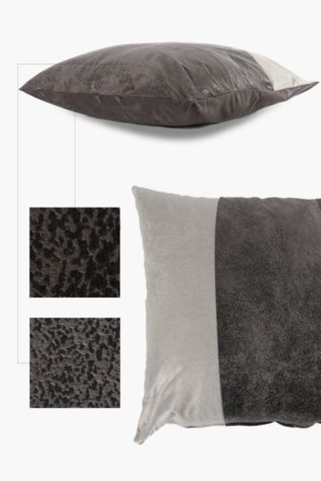 Paneled Mock Suede 40x60cm Scatter Cushion