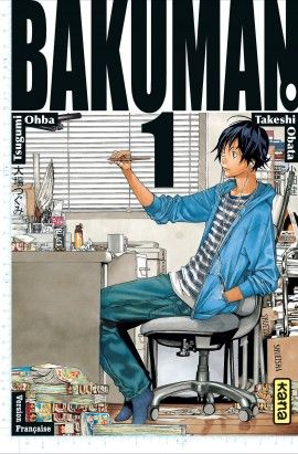 Bakuman tomes 1 et 2. Ed Kana.  Une nouvelle série manga. Deux copains s'encouragent à écrire un manga pour un concours.