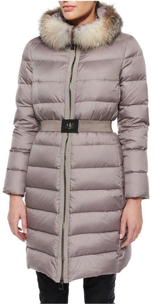 c236b7d2f eBay #Sponsored Moncler Fabrefox Fur Trim Puffer Coat With Belt New ...