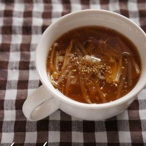 もやしとえのきのピリ辛スープ+by+北嶋佳奈さん+|+レシピブログ+-+料理ブログのレシピ満載! ピリ辛でヘルシーなスープです☆