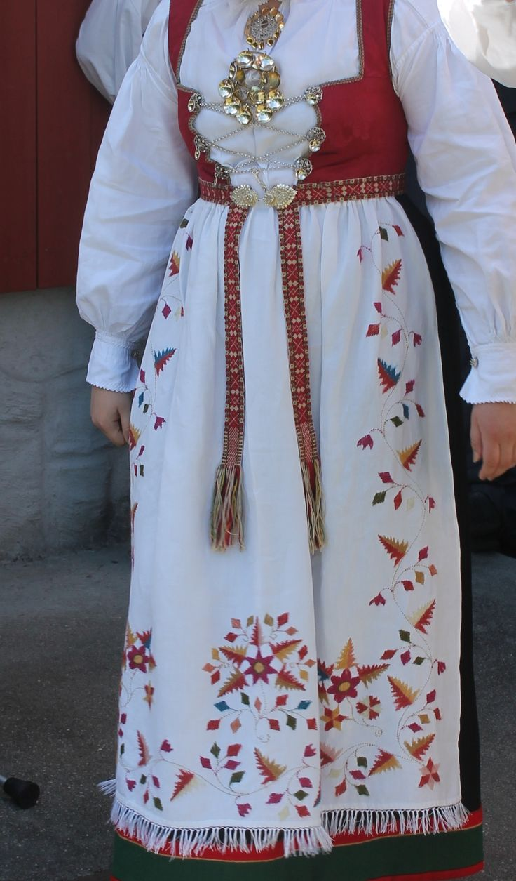 The Åmli bunad - the one worn here is actually 60 years old, inherited from her grandmother