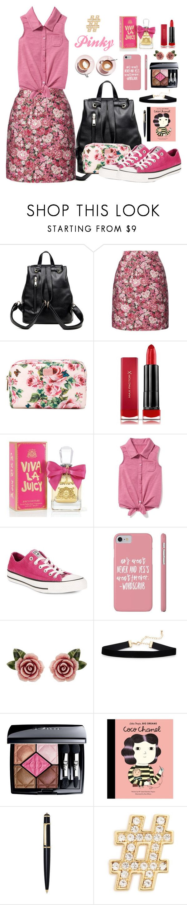 """🍃🌸E.U🌸🍃MyKindOfpink🍃"" by estherupdates ❤ liked on Polyvore featuring ADAM, Dolce&Gabbana, Max Factor, Juicy Couture, Old Navy, Converse, Christian Dior, Quarto Publishing, Cartier and Michael Kors"