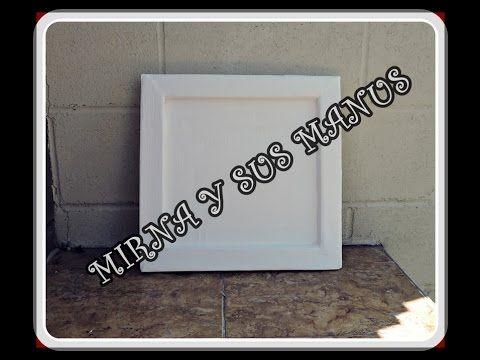 Como hacer un marco de carton. Reciclaje .How to make a cardboard frame....