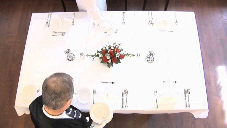 Tisch eindecken 5 Gänge Menü fachgerecht erlernen...| Andreas Muchow - G...