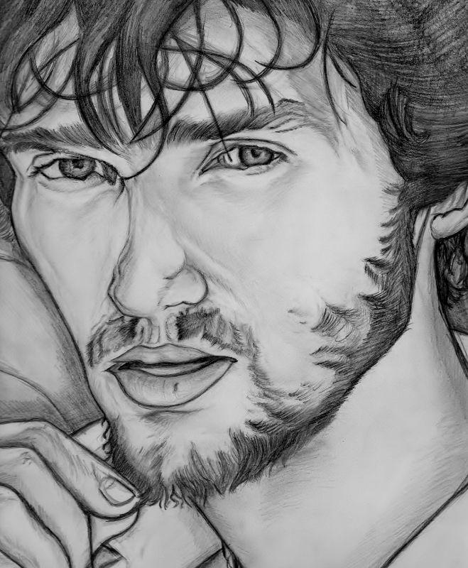 Alexander Ovečkin kresba ceruzkou