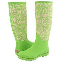 Green wellies! ... to walk in the slushy wet / snow in COLORADO!