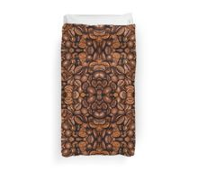 Shiny brown coffee beans Duvet Cover by #PLdesign #CoffeeLove #CoffeeGift #Coffee