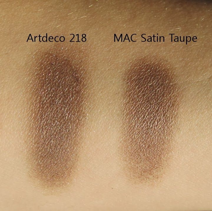 MAC Satin Taupe dupe Artdeco eyeshadow 218