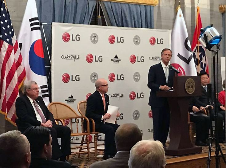 Tennessee Governor Bill Haslam, TNECD Announce LG Electronics to Locate New U.S. Manufacturing Operations in Montgomery County