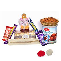Ganpati Blessings with Wholesome Rakhi Treat