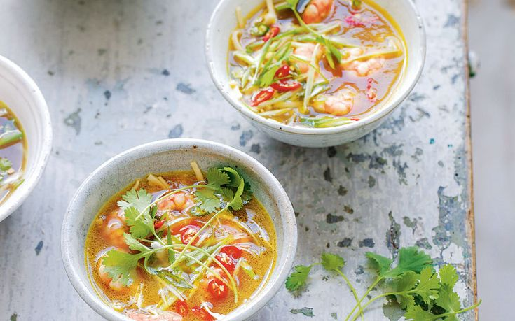 This Thai soup from The Detox Kitchen - bursting with selenium, tryptophan,   and potassium - is ideal for cleansing your system