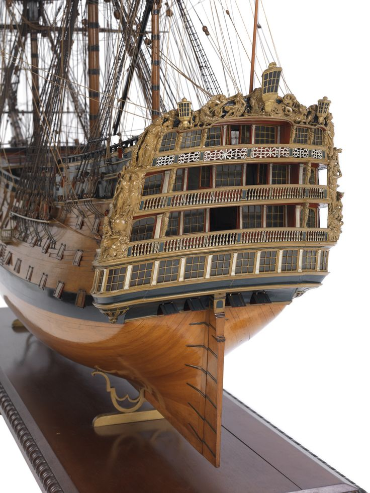 Victory (1737); Warship; First rate; 100 guns - National Maritime Museum | Model Ships | Model ...