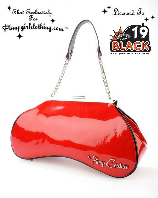 USA Pinup Couture Red Glitter Handbag