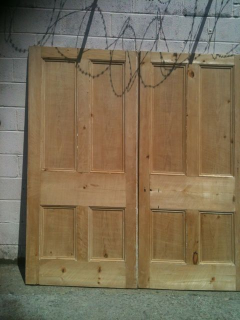 "A Great Pair of Reclaimed Victorian Room Dividing Doors Height 85"", Width 39""Each door 2"" thick."