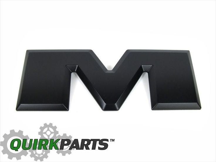 "2015 DODGE RAM BLACK LETTER (M) 12 1/4"" X 4.5"" FOR TAILGATE RAM EMBLEM OE MOPAR #MOPAR"