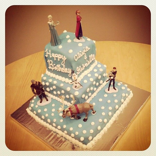 Frozen cake. My girls 5th birthday was a blast and I don't see them letting it go any time soon!!!