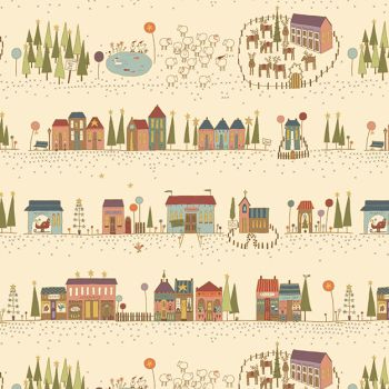 Hometown Holiday - Christmas Street in Cream (8140-44)