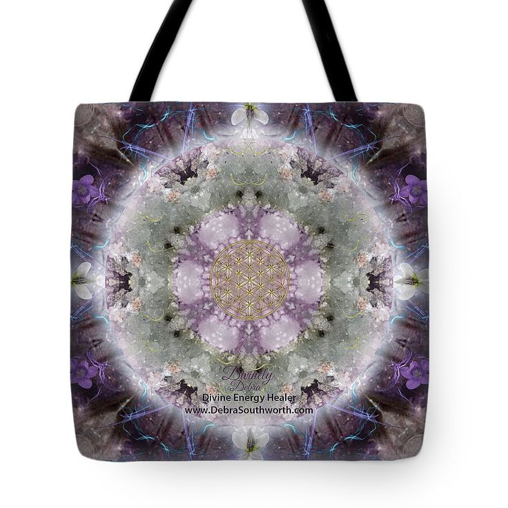 Tote Bag featuring the digital art Divine Love, Custom Website by Alicia Kent