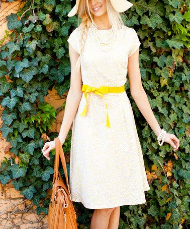 Another great find on #zulily! Mellow Yellow Dress by Shabby Apple #zulilyfinds