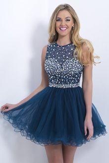 Baile Jewel Curto/Mini Organza Vestidos de Formatura