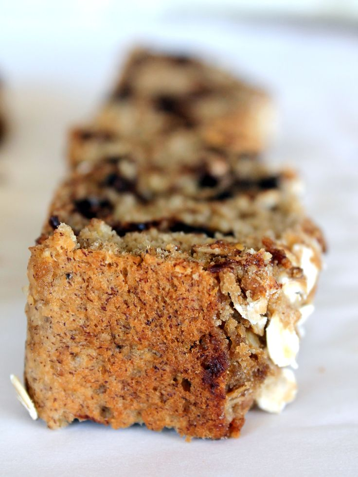 Vegan + Gluten-Free Chocolate Chip Oatmeal Banana Bread ...