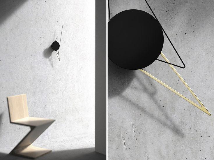silo wall clock works as a kinetic sculpture | Designboom Shop