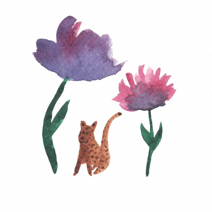 Jelena Matriszenka #watercolor #watercolorillustration #illustration #watercolorart #art #akwarele #creature #cute  #animal #artforkids #illustrationforkids #kids #floral #nature #flowers