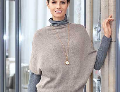 Описание вязания на спицах кашемировой безрукавки из журнала «Verena. Модное Вязание» №05/2013