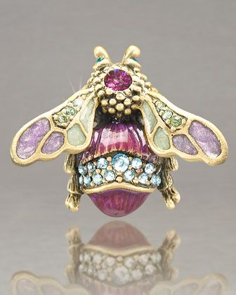 """""""Fae"""" Bumble Bee Pin by Jay Strongwater.  Sooo excited about the return of brooches!"""