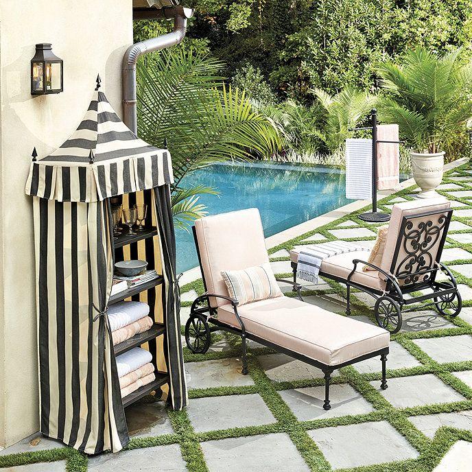 Positano Towel Cabana Ballard Designs in 2020 Outdoor