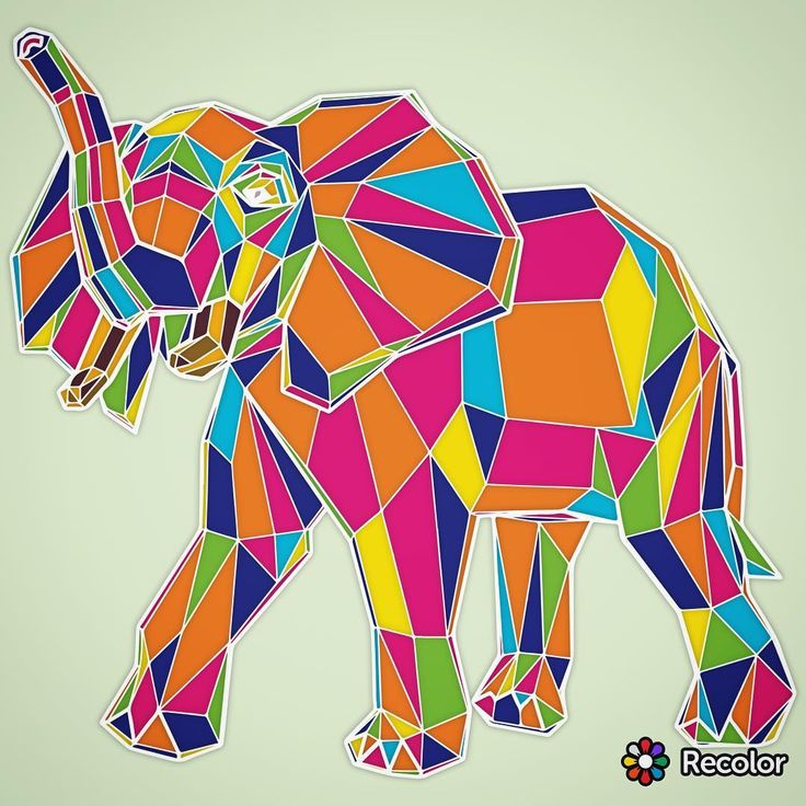 Elephant Stainedglass Coloring Coloringbook Coloringapp App Coloringbookapp Adultcoloringbook