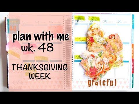 Plan with me (ECLP) - Thanksgiving Week 48