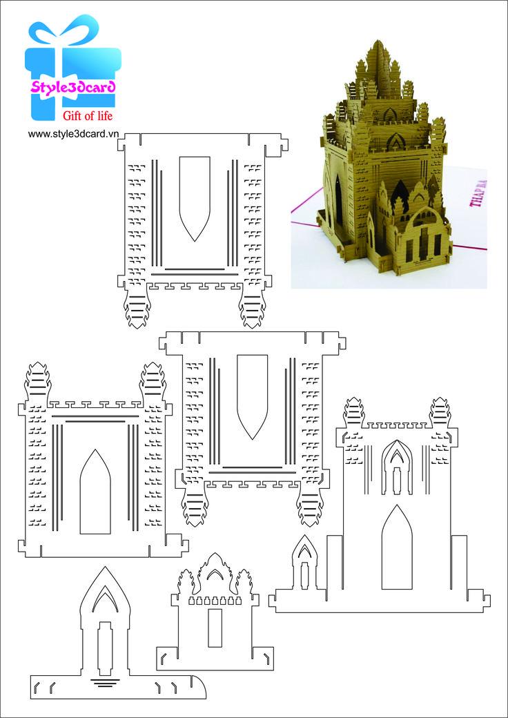Thiệp 3d tháp Po Nagar 1