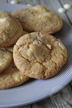 Macadamia en witte chocolade koekjes | HandmadeHelen
