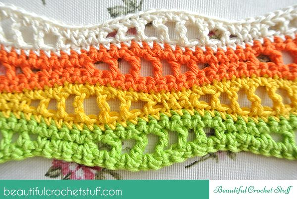Colorful Waves Pattern - picture tutorial, would be a great scarf, bracelet, etc.  Is there anything you couldn't do with this pattern?