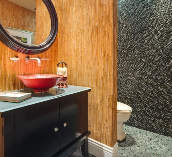 bamboo wall coverings look great and a highly versatile, suiting many different sorts of rooms. Try it in a bathroom, as a good place to start