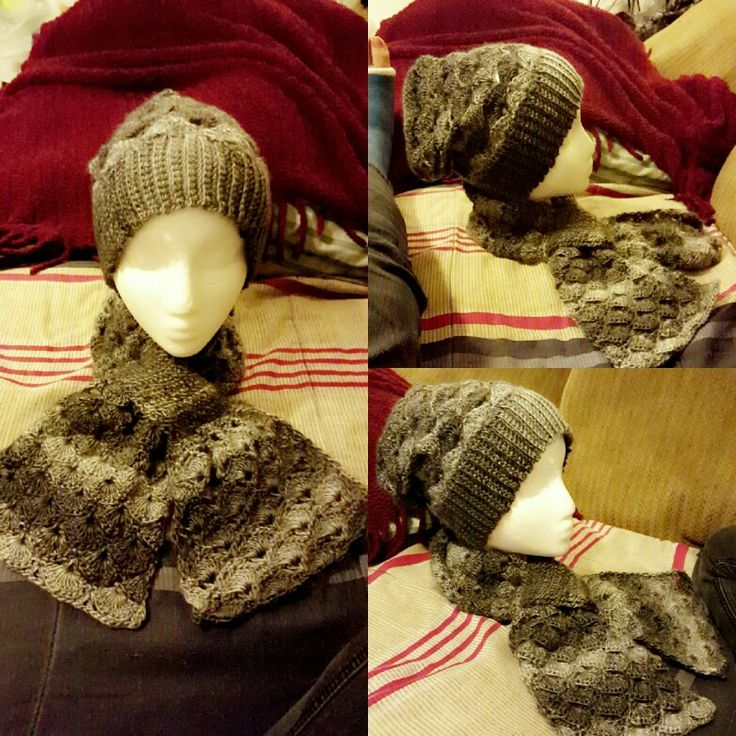 Crochet hat and scarf set for my cousin