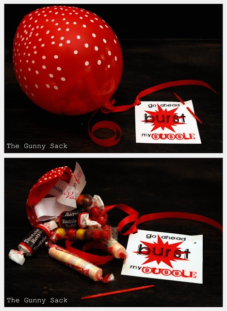 Go Ahead {BURST} My Bubble Valentine~  What a great idea!