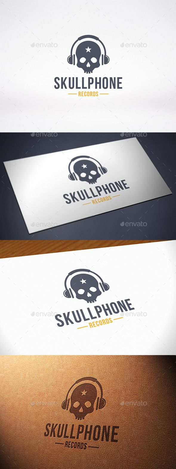 56 best skull images on pinterest creative death and drawing music skull logo template magicingreecefo Choice Image