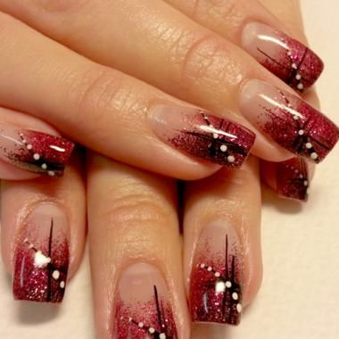 Nail Art How To: Fall Glitter Using Light Elegance Gels