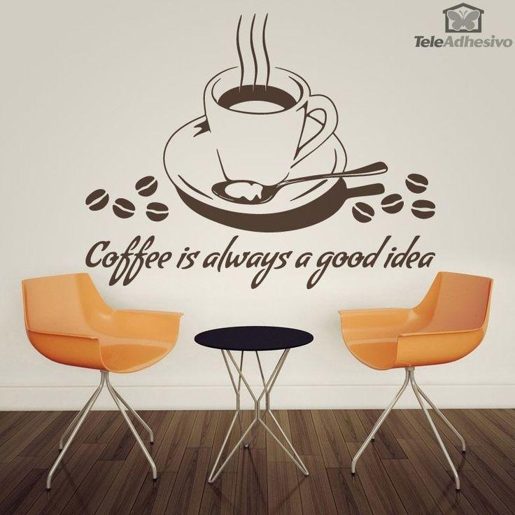 Adesivi Murali Coffee is always a good idea
