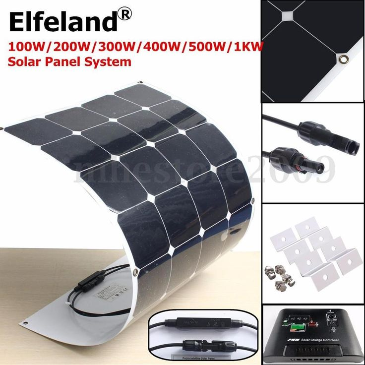 100W/200W/300W/400W/500W/1KW Semi Flexible Mono Solar Panel Battery System in Home & Garden, Home Improvement, Electrical & Solar | eBay