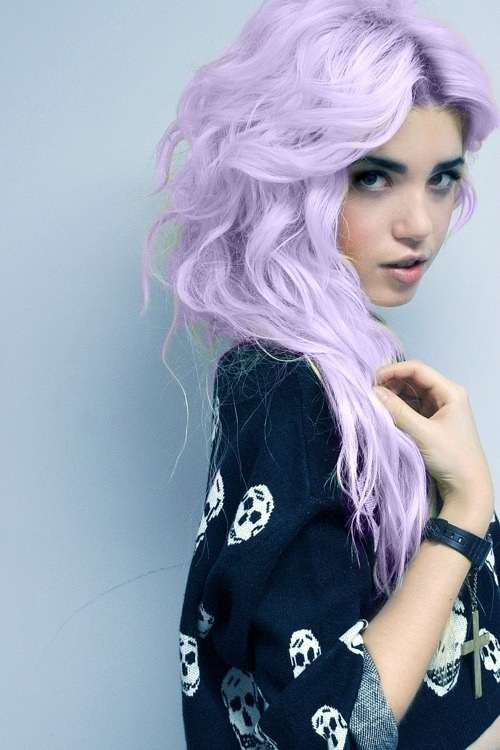 pastel purple. love everything about this hair.