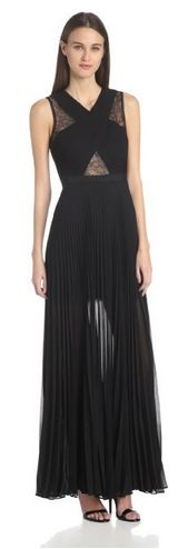 BCBGMAXAZRIA Women's Caia Chiffon Pleated Gown See more at: http://fabulousfashionforall.blogspot.com